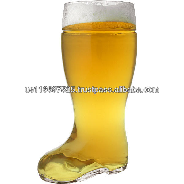 Glass beer boot glass