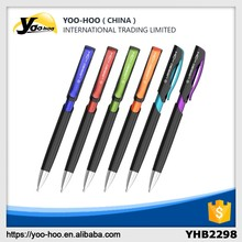 Plastic ball pen with color clip/printed ball pen