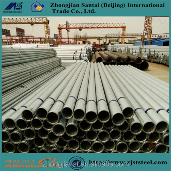 Hot dip zinc coated galvanized steel pipe for water pipe plumbing material