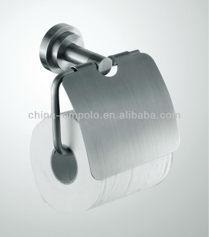 Stainless Steel Paper Holder With Nickel Brush Toilet Paper Dispenser