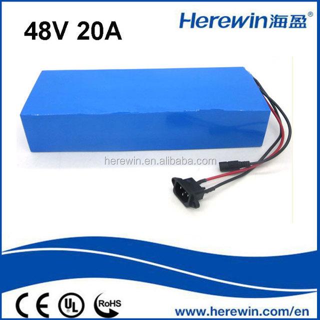 LiFePO4 Battery Pack e bike 48V 20Ah Rechargeable Lithium Iron Phosphate Akku Pack