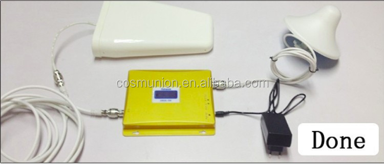 Brand new 2G3G4G DCS1800Mhz or 900mhz or 2100mhz cell phone signal booster with antennas