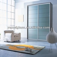 China Manufacturer frosted glass sliding door wardrobe