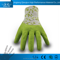 QL types of safety latex palm coated rubber laminate coat glove