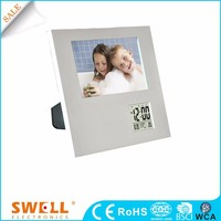 Modern pretty digital activate dual alarm clock , multiple Photoframe alarm clock