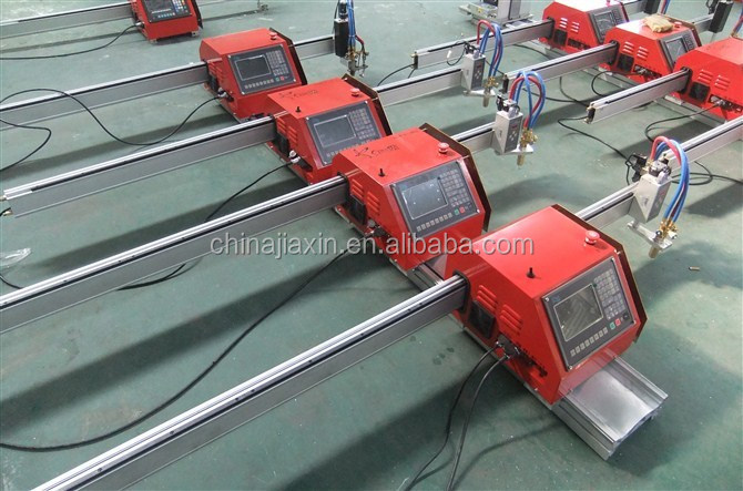 Portable CNC Plasma cutting machine, CNC Plasma cutter with both plasma cutting torch and flame torch