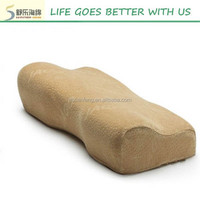 Butterfly shape comfortable classic memory foam pillow for rest 40D size:54*32*11/6cm