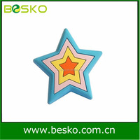 Hot Sale Painted Plastic Star Knobs