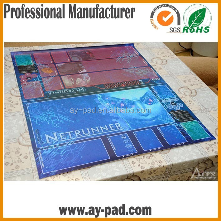 AY Sublimation Rubber Game Playmats For Card , Large Size Tabletop Games Mat
