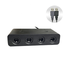 GameCube Controller Adapter for <strong>Wii</strong> U, PC USB and Switch, 4 Port