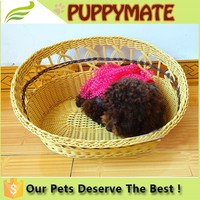Fashionable high quality cheap good quality dog bamboo weaving/pet bed