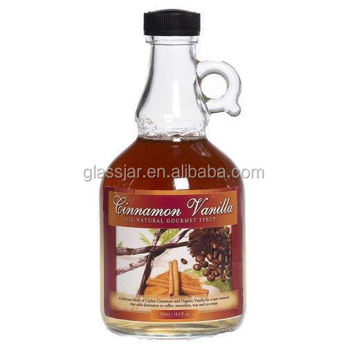 250ml clear glass maple syrup bottles with plastic cap