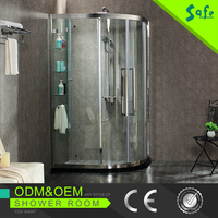 High quality design clean and simple modern gglass enclosed showers