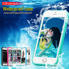 LZB vendedora caliente al por mayor ultra thin waterproof Case para el iphone 6 s, para el iphone 6 caja estanca