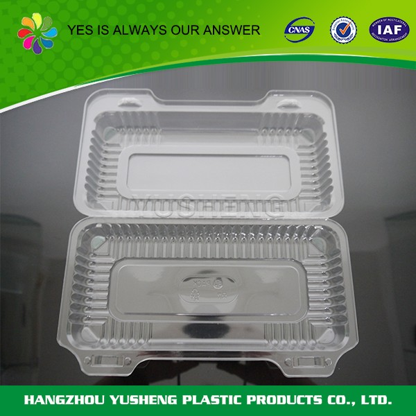 Clamshell food packing box for cookies