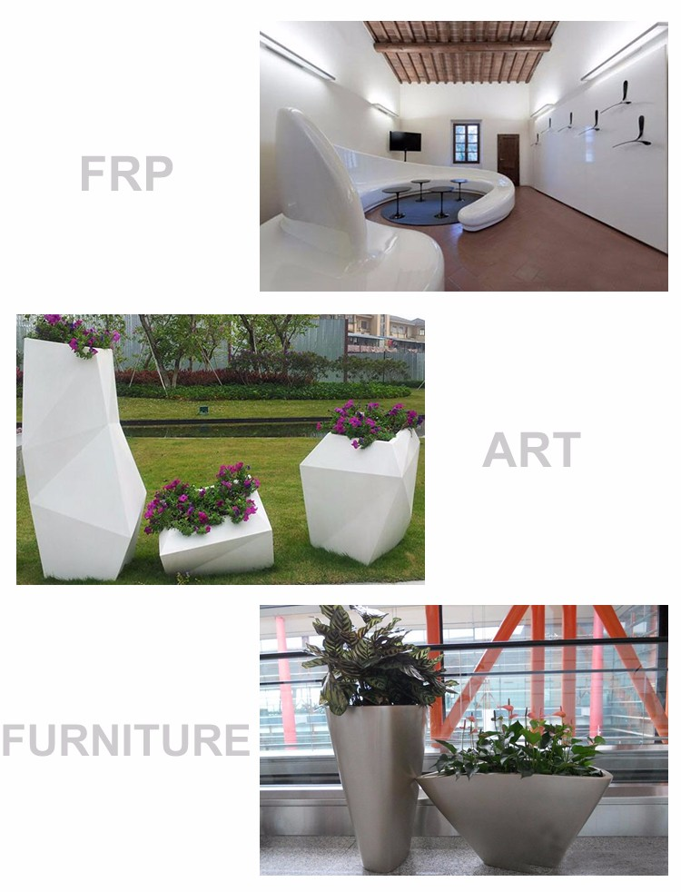 Custom vogue design frp art cheap chair for park