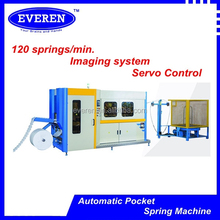 High Speed Mattress Barrel & Cylinderical Bonnell Pocket Spring Coiling Machine
