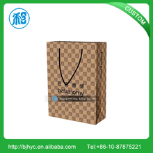 Logo Printing Provided Custom recycled brown grocery kraft paper bag