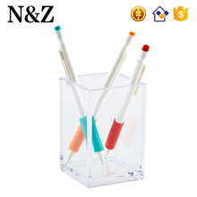 NZ M18 Factory Sale Custom Pencil Holder Transparent Table Acrylic Pen Holder
