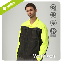 Yellow Customized Design workwear Engineering overalls Work Jackets