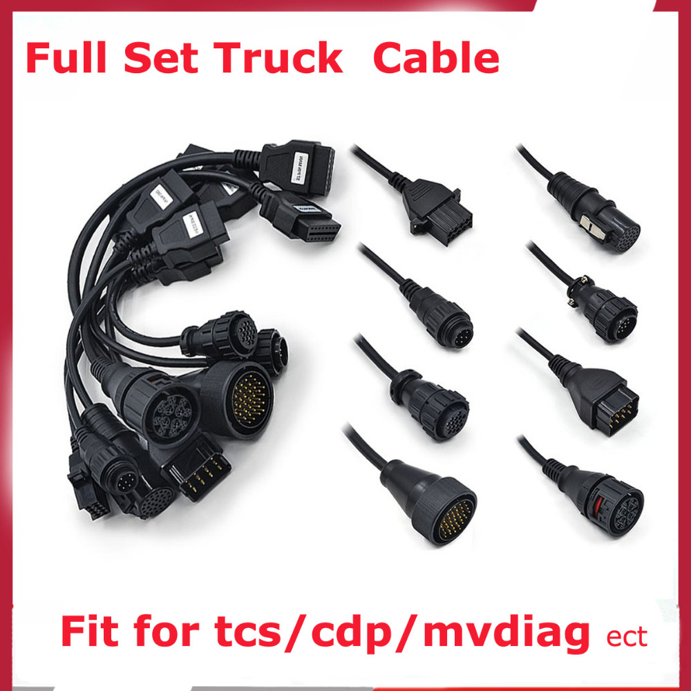 Whole sale Factory Price OBD2 Car Cables Full Set 8 Cables For TCS CDP Pro Diagnostic Interface OBD 2 Truck Cables SET