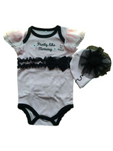 fashionable soft plain laced cotton adult baby romper baby clothing set with hat and bow