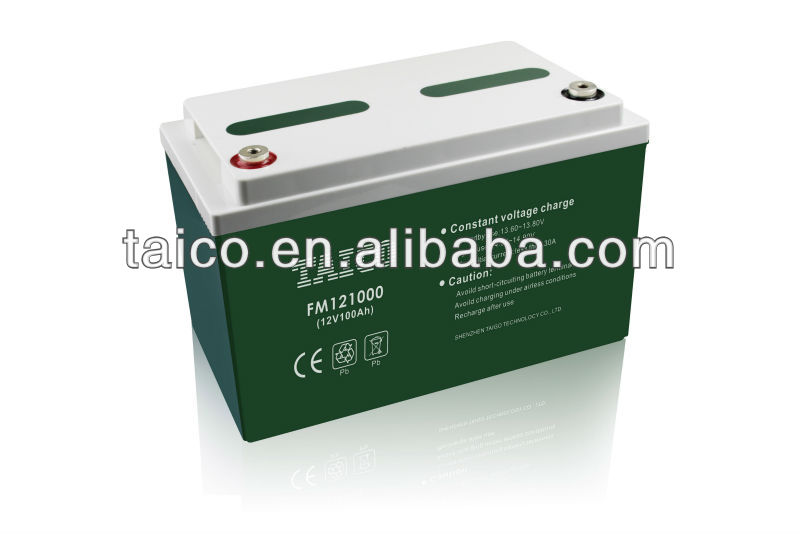 FM121000 sealed lead acid storage sla vrla deep cycle battery 24v(12v*2) 100ah for ups eps solar system