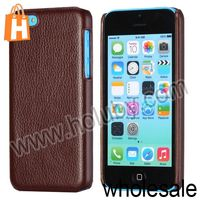 New Product for Apple iPhone 5C Case,Lichee Pattern Leather Coated PC Cover Mobile Phone Case for iPhone 5C