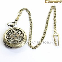 Exquisite antique round alloy pocket watch, adorable fitness high quality pocket watch