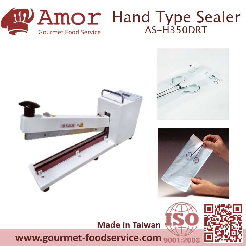 hand operated thermostatic control medical impluse plastic sealer