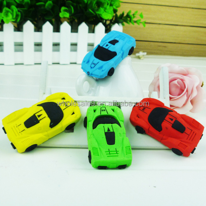 students school office supply reward 4x simulated cartoon car eraser