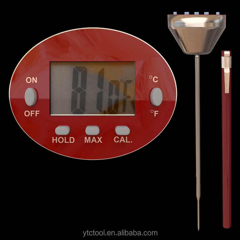 2016 NEW Design digital chicken BBQ waterproof digital meat thermometer