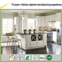 Factory Direct Good Quality White Painted Shaker All Wood Kitchen Cabinet