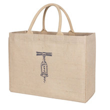 Cheap promotional eco jute wine tote bag, hot style cheap wine travel bag ,high quality wholesale jute wine bag