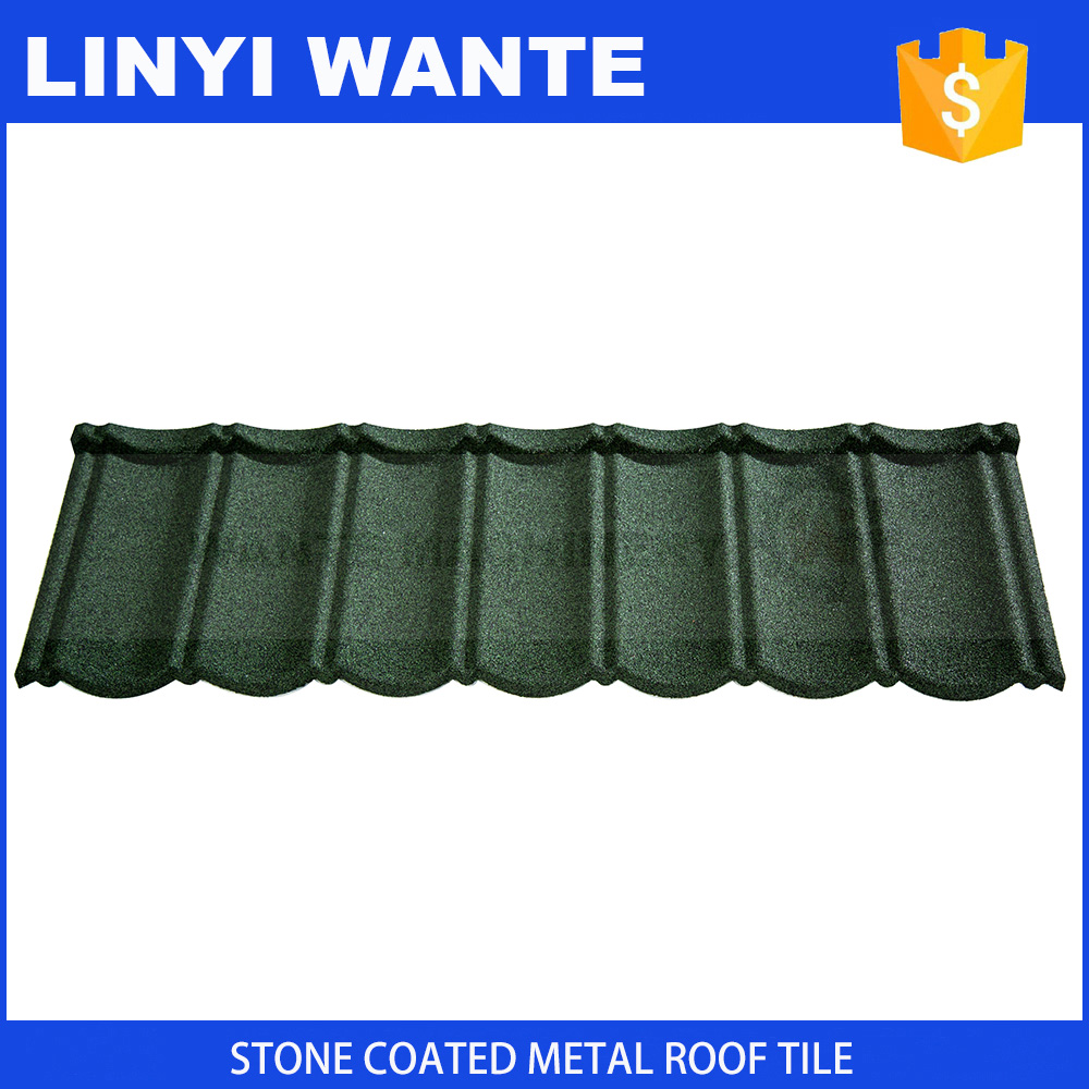Protecting your house against storm bond stone steel roof tiles using acrylic resin as adhesive