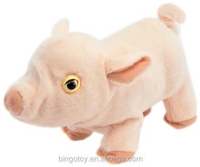 Wholesale real looking pig walking recording plush pig toy