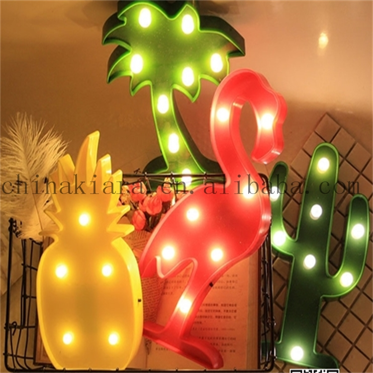 Hot Sale Factory Price Home Decoration  Lighted Cactus Marquee Lights