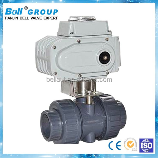 dn 50 pvc electric actuator ball valve with competitive price