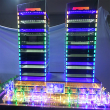 High rise Building Architecture scale model in ABS acrylic and plastic