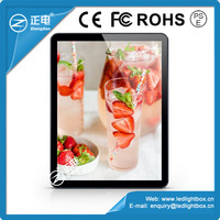Best selling products magnetic light box display rounded corner tablet design menu light box display celling mounted led light b