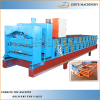 Automatic Steel Profile Metal Aluzinc Double Deck IBR Roofing Sheets Making Machine