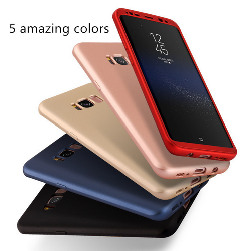 TPU+PC Front And Back Protective Case Cover For Samsung Galaxy S8 S8 Plus