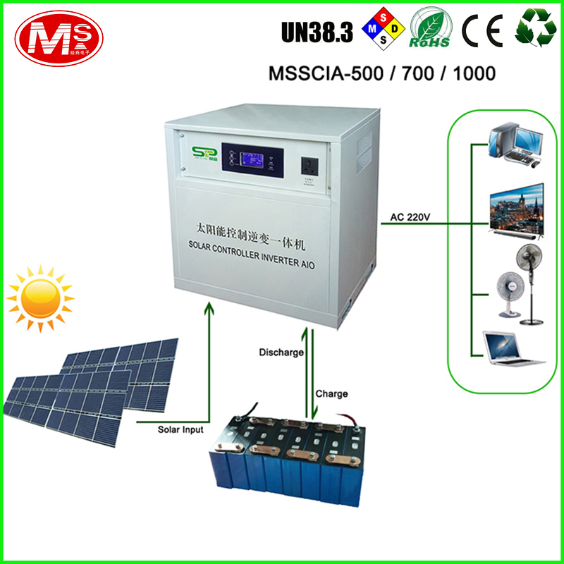 500W 700W 1000W Solar controller inveter Built-in LiFePO4 battery pack for home power generation