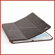 china manufacture classic black PU leather flip stand tablet cover for ipad air 2 , waterproof europe style elegant tablet case