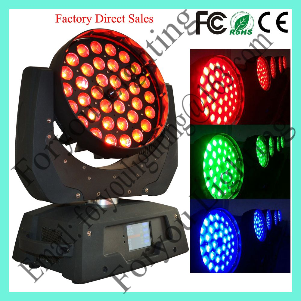 Touch Screen Professional Stage Disco DJ Lighting 36pcs 18W RGBWAUV 6IN1 LED Moving Head Zoom
