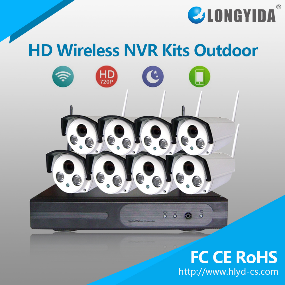 Most Popular Surveillance Wireless NVR kit 8CH CCTV System With Low Price