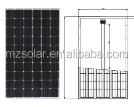 Mounting long life 300w 400w 500w solar panels for industrial use