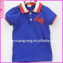 casual design cotton short sleeves red white children polo t shirt for boys