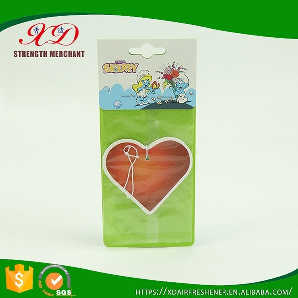 Non-toxic Promotion Car Air Perfume/Natural Paper Air Freshener Fragrance