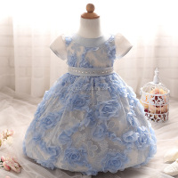 C00253#2016 unique baby girl names images baby girl wedding dresses with flowers decoration